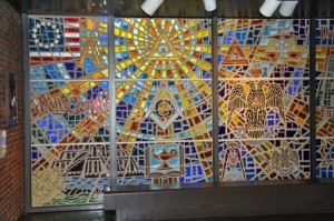 Stained Glass Window at the Scottish Rite Museum